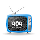 Vector TV. 404 Royalty Free Stock Image