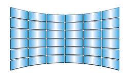 Vector tv monitors with gradients. Vector blue tv monitors with gradients Royalty Free Stock Photography