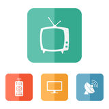 Vector tv related icons Royalty Free Stock Image