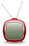 Vector TV retra roja, ilustración eps8 Imagenes de archivo