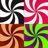 Vector twirled backgrounds Royalty Free Stock Images