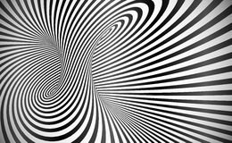Vector twisted stripes optical illusion abstract background. Vector twisted stripes optical illusion black and white abstract background royalty free illustration