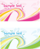 Vector two abstract wave design banner royalty free illustration