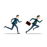 Vector two business man competitive business. Vector business man competitive with business Royalty Free Stock Photography