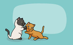 Vector Two cute cats are play. Vector illustration two cute cats, cartoon style Stock Photography