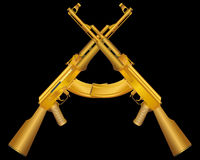 Vector - two gold ak Stock Image