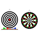 Vector two sides of darts game Stock Photo