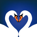 Vector two swans in love Stock Photo