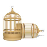 Vector two wooden cages. Vector realistic two wooden cages Royalty Free Stock Photography