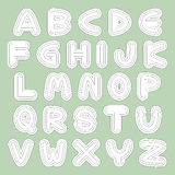 Vector type fonts Stock Image