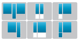 Vector types of balconies Stock Photos