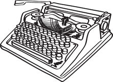 Vector typewriter Royalty Free Stock Images