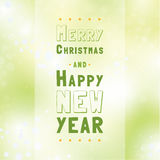 Vector typographic christmas background. Stock Images