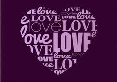 Vector typographic heart Stock Photography