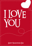 Vector Typographic Love Poster Stock Photography