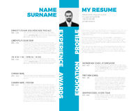 Vector typographic minimalist cv / resume template Royalty Free Stock Photos