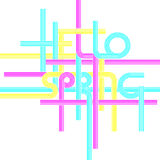 Vector typography background, phrase Hello Spring vector illustration
