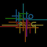 Vector typography background, phrase Hello Spring Royalty Free Stock Photography