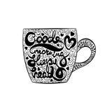Vector Typography Lettering Good Morning Sleepy Head Chalkboard Illustration Royalty Free Stock Photo