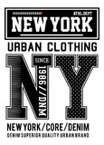 Vector typography new york urban clothing Royalty Free Stock Images