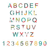 Vector typography set with alphabet letters sequence from A to Z and numbers. Abc letters and digits decorated in modern style wit Royalty Free Stock Image