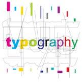Vector typography type royalty free stock photos