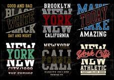 Vector typography varsity collection 02. Design vector typography varsity collection 02 for t shirt print men royalty free illustration