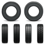 Vector Tyre Icons Royalty Free Stock Image