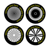 Vector tyres and wheels Stock Images