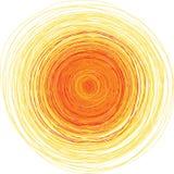Vector uit de vrije hand illustratie van glanzende zon Royalty-vrije Stock Foto's