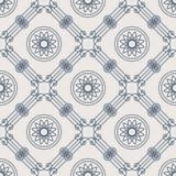 Vector Uitstekend Arabisch Geometrisch Lineair Naadloos Patroon Stock Foto's