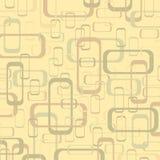 Vector uitstekend beige en geel geometrisch pop ontwerpbehang B royalty-vrije illustratie