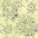 Vector uitstekend bloemen naadloos patroonelement. Royalty-vrije Stock Afbeeldingen