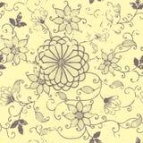 Vector uitstekend bloemen naadloos patroonelement. royalty-vrije illustratie
