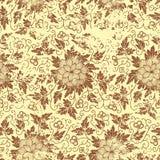 Vector uitstekend bloemen naadloos patroonelement. Stock Foto