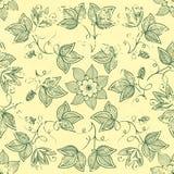 Vector uitstekend bloemen naadloos patroonelement. stock illustratie