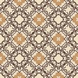 Vector uitstekend bloemenpatroon Retro naadloze textuur Stock Fotografie
