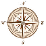 vector uitstekend bruin kompas Stock Fotografie