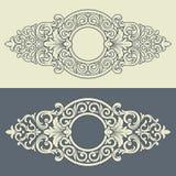 Vector uitstekend decoratief frame patroonontwerp royalty-vrije illustratie