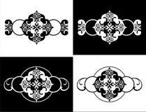 Vector uitstekend decoratief kaderpatroon Stock Afbeeldingen
