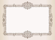 Vector Uitstekend frame. ornamenten koninklijk document Royalty-vrije Stock Afbeeldingen