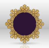 Vector Uitstekend Gouden Kaderontwerp Royalty-vrije Stock Foto