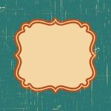 Vector uitstekend grenskader met retro ornamentpatroon in antiek stijl decoratief ontwerp Oude maniertextuur Uitstekende etikette Stock Foto's