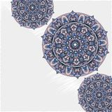 Vector uitstekend kaartmalplaatje met mandalaornamenten Royalty-vrije Stock Foto