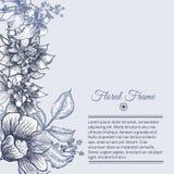 Vector Uitstekend kader bloemenontwerp als achtergrond Royalty-vrije Stock Foto's