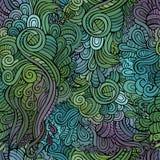 Vector uitstekend naadloos abstract bloemenpatroon Stock Afbeelding