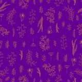 Vector uitstekend naadloos bloemenpatroon Royalty-vrije Stock Afbeeldingen