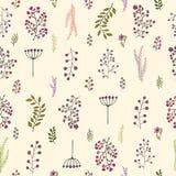 Vector uitstekend naadloos bloemenpatroon Royalty-vrije Stock Fotografie