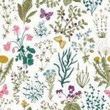 Vector uitstekend naadloos bloemenpatroon Stock Foto