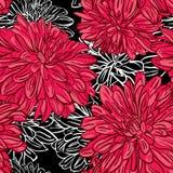 Vector uitstekend naadloos bloemenpatroon met pioenen Stock Afbeeldingen